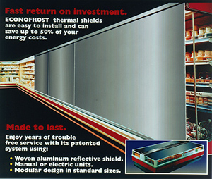Features of EconoFrost Refrigerator Blinds